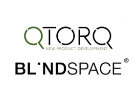 Qtorq och Blindspace logotyp