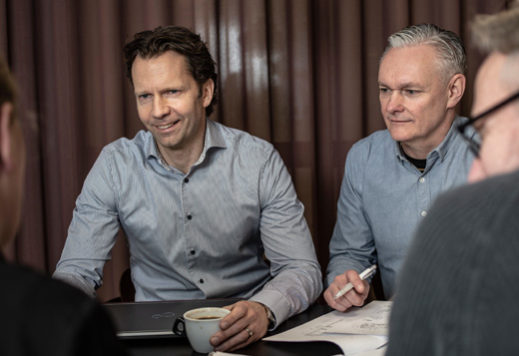 Jönrup och Eriksson kundmöte gällande patent och patentstrategi